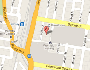 Link to Google Maps - map of Hornsby area
